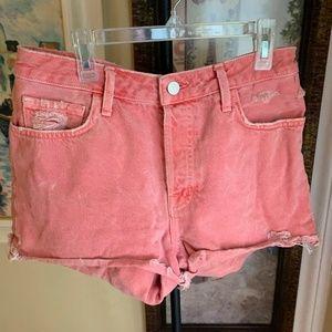 Boho Festival Pink J Brand High-waisted Shorts L